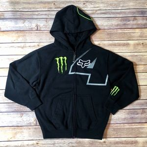 Fox Monster Energy Logo Hoodie Sweatshirt
